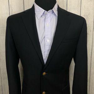 Jos. A. Bank 40R Blue Wool Gold Button Blazer